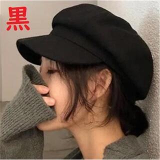 ベレー帽 キャスケット ブラック 編み込み 医療 ケア帽子