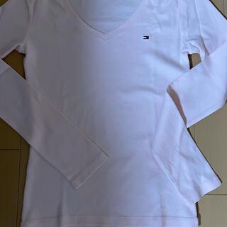 トミーヒルフィガー(TOMMY HILFIGER)のトミーヒルフィガー ピンク 長袖Tシャツ 海外購入(ニット/セーター)