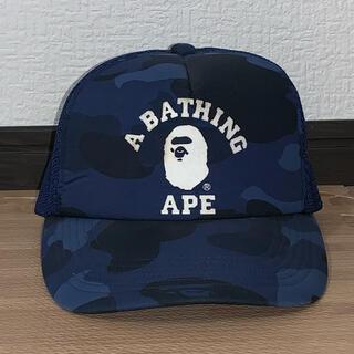 A BATHING APE - ★激レア★ APE カレッジ ロゴ メッシュキャップ スナップバック キャップ