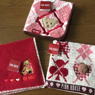 ピンクハウス(PINK HOUSE)の★タグ付き・新品未使用★ PINKHOUSE ピンクハウス ハンカチ 3点セット(ハンカチ)