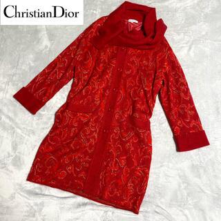 クリスチャンディオール(Christian Dior)の【希少・美品】Christian Dior ディオール ロングニットガウン(ニット/セーター)