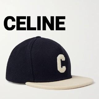 celine - CELINE☆Logo Wool Brend Baseball Cap セリーヌ
