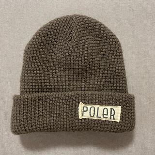 ザノースフェイス(THE NORTH FACE)のpoler ポーラー ニット帽 ビーニー POLER スケボー(ニット帽/ビーニー)