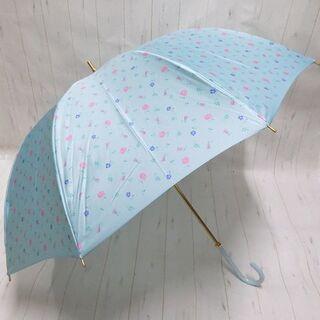 ラデュレ(LADUREE)のLADUREE ラデュレ 長傘 雨傘 花柄 フラワープリント ブルー(傘)