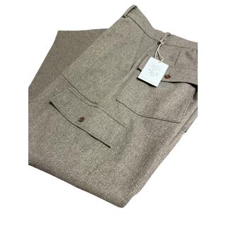 COMOLI - HERILL 21AW Black Sheep Cargo Pants