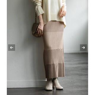 ノーブル(Noble)の[タグ付新品]ランダムバイカラーリブニットスカート(ロングスカート)