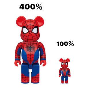 MARVEL - 最安値 ベアブリック スパイダーマン 400%100% ファミリーマート 未開封