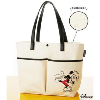 ミッキーマウス(ミッキーマウス)のクラシックミッキーマウス 2ポケットビッグトート 付録 未使用品(トートバッグ)