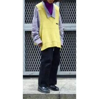Jieda - SYU.HOMME/FEMM Double V-neck wool vest