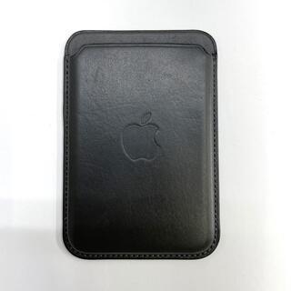 Apple iPhone レザーウォレット MagSafe対応  ブラック