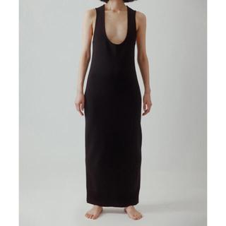yo BIOTOP Lingerie Long knit dress BLK