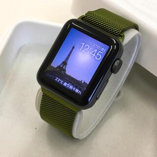アップルウォッチ(Apple Watch)のApple Watch シリーズ3 GPS 38mm アップルウォッチ 黒(腕時計(デジタル))
