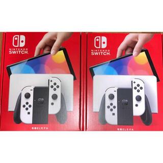 ニンテンドースイッチ(Nintendo Switch)の【新品・未使用】ニンテンドースイッチ 本体 有機EL ホワイト 2台セット(家庭用ゲーム機本体)