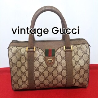 Gucci - 良品 レア!Gucci シェリーライン ビンテージハンドバッグ ボストンバッグ