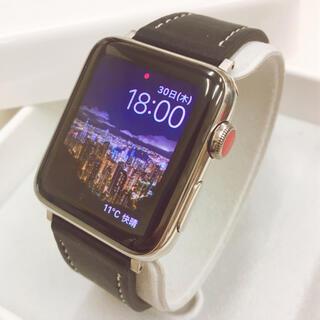 アップルウォッチ(Apple Watch)のApple Watch series3 ステンレス 42mm アップルウォッチ(腕時計(デジタル))
