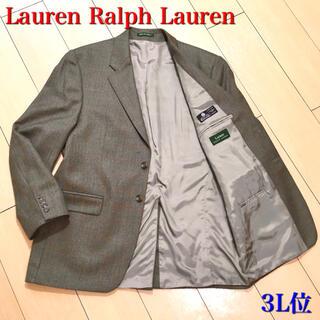ラルフローレン(Ralph Lauren)の極美品★ラルフローン ラムウール100% 極上カーキ系織り秋冬ジャケットA593(テーラードジャケット)