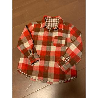 ミキハウス(mikihouse)のミキハウス リバーシブル 100 チェックシャツ ネルシャツ(その他)