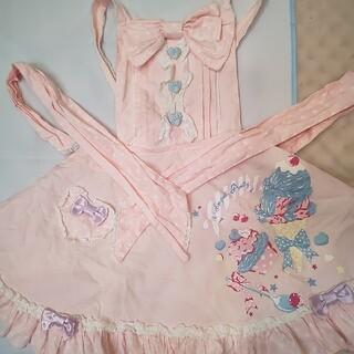 Angelic Pretty - アンジェリックプリティ初版アイスクリーム柄サロペットピンクとバレッタ