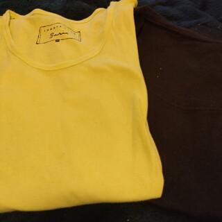 ローリーズファーム(LOWRYS FARM)の半袖 2枚セット 黒と黄緑(Tシャツ(半袖/袖なし))