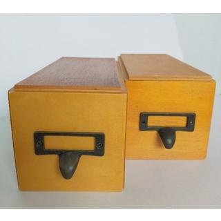 フェリシモ(FELISSIMO)のフェリシモ 木製ドロワー2個(小物入れ)
