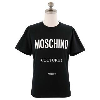 モスキーノ(MOSCHINO)のMOSCHINO 半袖Tシャツ ブラック サイズ52(Tシャツ/カットソー(半袖/袖なし))
