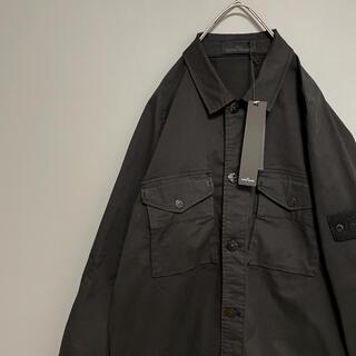 STONE ISLAND - 【未使用に近い】ストーンアイランド ガーメントダイシャツジャケット 黒 L