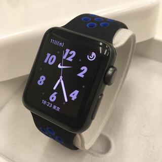 アップルウォッチ(Apple Watch)のApple Watch series2 ナイキ アップルウォッチ 38mm 黒(腕時計(デジタル))