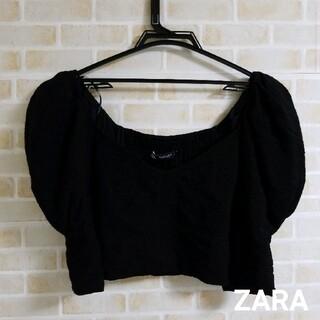 ZARA - ZARA  クロプッド パフスリーブ トップス