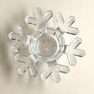 iittala - イッタラ スノークリスタル キャンドルホルダー 雪の結晶 1