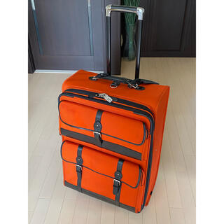 ポロラルフローレン(POLO RALPH LAUREN)のラルフローレン/スーツケース/オレンジ/キャリー/レザー/ナイロン/バッグ/限定(トラベルバッグ/スーツケース)
