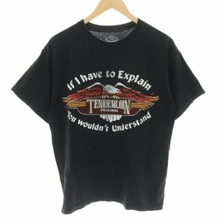TENDERLOIN - テンダーロイン イーグル プリント Tシャツ カットソー 半袖 M 黒 ブラック