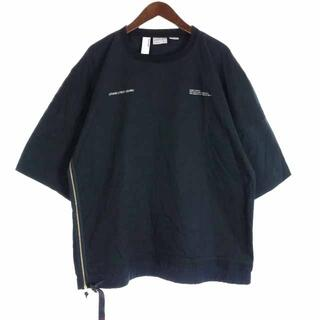 グラミチ(GRAMICCI)のグラミチ  × ポリクアント Tシャツ カットソー 半袖 刺繍 M 黒(Tシャツ/カットソー(半袖/袖なし))