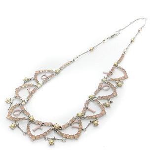 ディオール(Dior)のディオール ネックレス ペンダント ストーン パール ピンク クリア シルバー色(ネックレス)