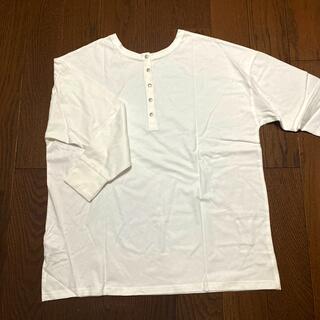 グレイル(GRL)のGRL 白トップス(Tシャツ(長袖/七分))
