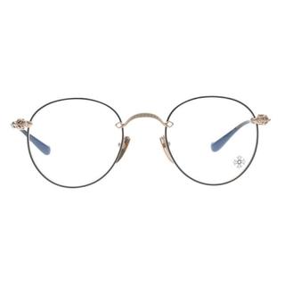 Chrome Hearts - クロムハーツ クロステンプルメタルフレームラウンドサングラス/眼鏡