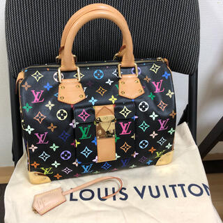 LOUIS VUITTON - マルチカラースピーディ ルイヴィトンハンドバッグ正規品