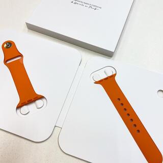 アップルウォッチ(Apple Watch)のアップルウォッチ エルメス スポーツバンド 38mm Apple Watch(ラバーベルト)