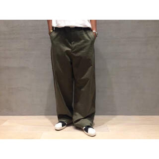 COMOLI - AURALEE 17AW WASHED FINX CHINO WIDE PANT