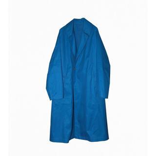 COMOLI - sillage BELTED coat VENTILE blue 新品