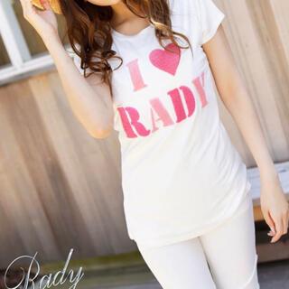 レディー(Rady)のRadyふわもこロゴTシャツ(Tシャツ(半袖/袖なし))