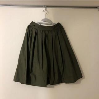 コントワーデコトニエ(Comptoir des cotonniers)のコントワーデコトニエ カーキ色 フレアスカート(ひざ丈スカート)