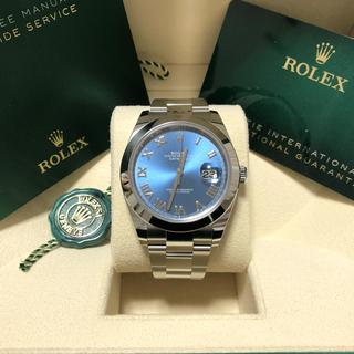 ROLEX - 【新品未使用】ロレックス デイトジャスト41 126300 ブルーローマン