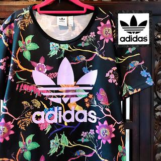 アディダス(adidas)のアディダス ファーム 紫 花柄 アリス Tシャツ パーカー ジャージ エスニック(Tシャツ(半袖/袖なし))
