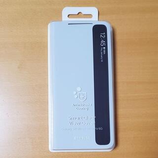 ギャラクシー(Galaxy)のGalaxy S21 Ultra 5G 純正 ケース クリアビュー ライトグレー(Androidケース)