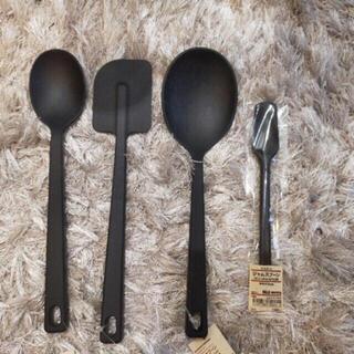 ムジルシリョウヒン(MUJI (無印良品))の無印良品 無印良品 シリコンスプーン4点セット 数量限定(調理道具/製菓道具)