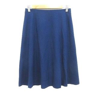 アナイ(ANAYI)のアナイ ANAYI フレアスカート ひざ丈 ウール 38 紺 ネイビー /YK(ひざ丈スカート)