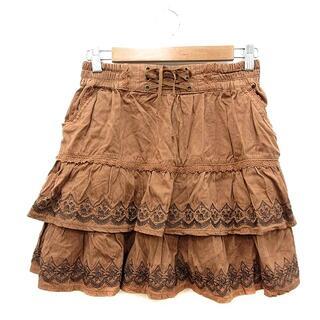 アクシーズファム(axes femme)のアクシーズファム axes femme ティアードスカート フレア ミニ 刺繍(ミニスカート)