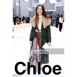 クロエ(Chloe)のChloe クロエ チェック柄スカート Chloé チェックスカート フリンジ(ロングスカート)