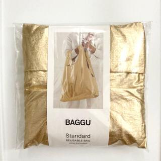 ビームス(BEAMS)の新品未使用 BAGGU  スタンダード ゴールド エコバッグ  メタリック(エコバッグ)