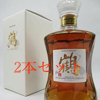 ニッカウイスキー(ニッカウヰスキー)のニッカ 鶴 余市蒸留所限定品 43度 700ml 2本セット(ウイスキー)